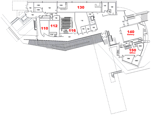 Art Building West - first floor plan