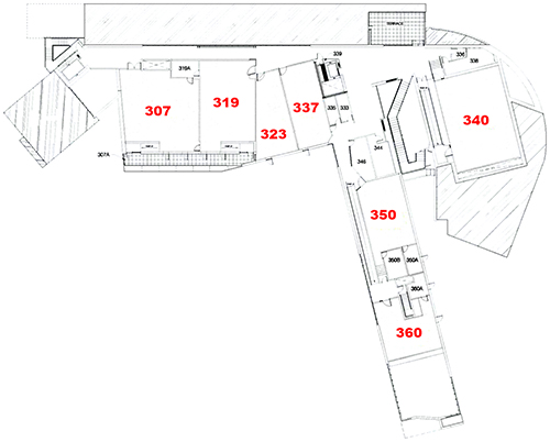 Art Building West - third floor plan