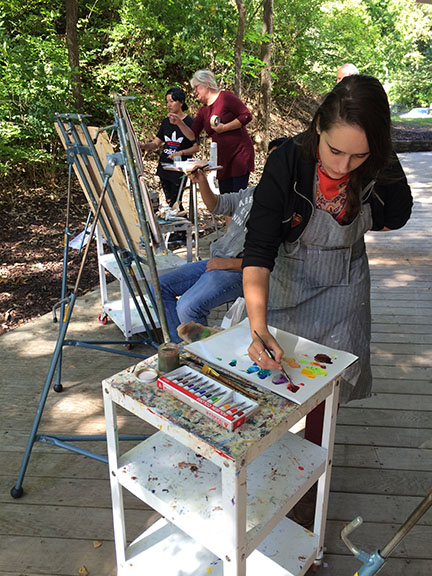 Painting class outside of ABW