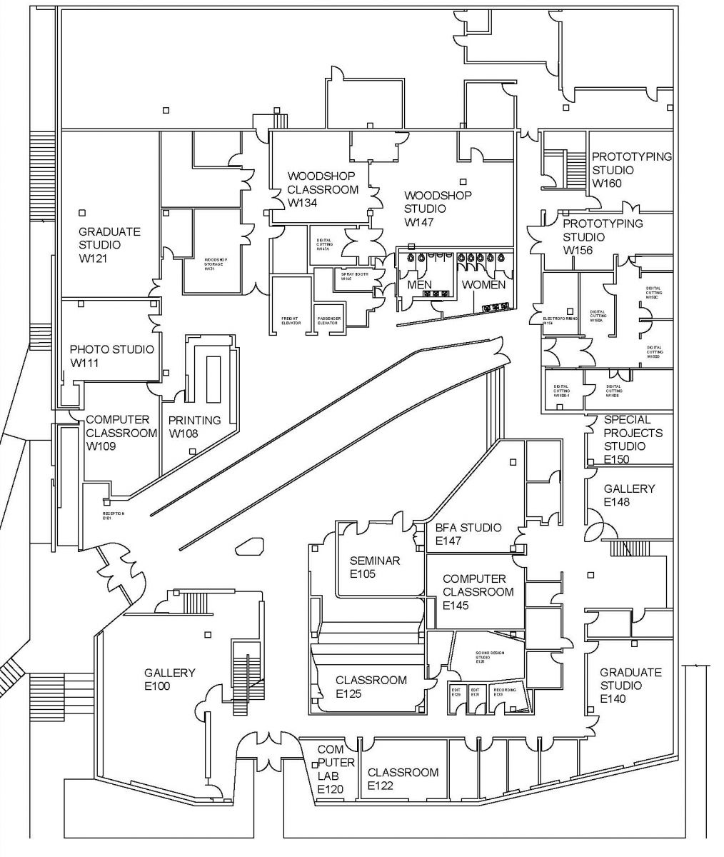 Visual arts building floor plans school of art and art for Building floor plans