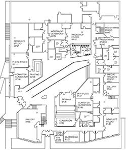 Visual Arts Building first floor plan