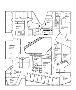 Visual Arts Building third floor plan