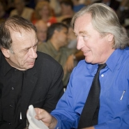 Vito Acconci (left) and Steven Holl (right) at the dedication in September, 2006.