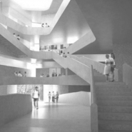 """Natural light will fill the building through """"light wells"""" strategically placed in the building."""