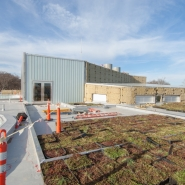 Green roof with roof-top classroom terrace