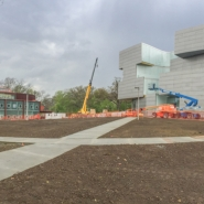 Site photograph of Art Building West and Visual Arts Building