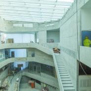 Atrium under construction