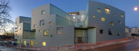 The new Visual Arts Building under construction at the University of Iowa.