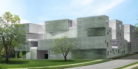 Architect's rendering of the new visual arts building.