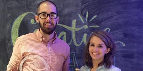 Students Alex Brunson and Carley Cullen