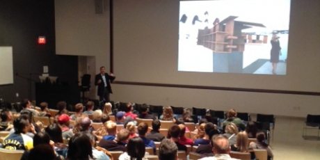 Photo of ISU architecture students at Art Building West lecture