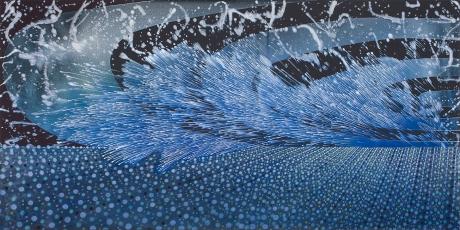 Painting by Barbara Takenaga