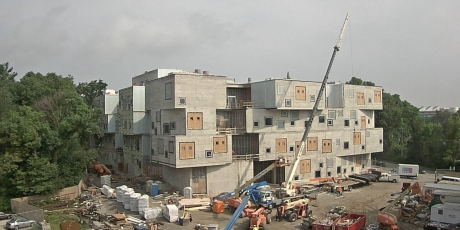 New visual arts building image from webcam