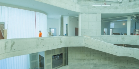 Interior view of new Visual Arts Building