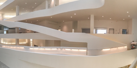 Interior of new visual arts building