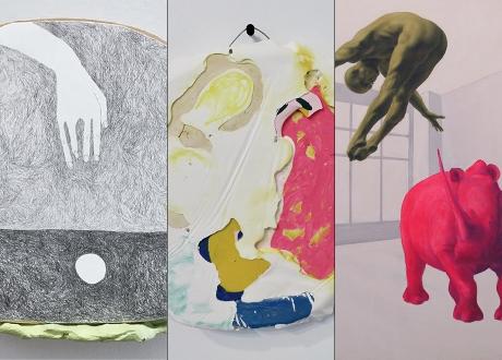 Kassie Palmer artwork, Claire Whitehurst artwork and Nino Kintsurashvili artwork