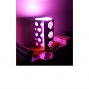 Wall Sconce in aluminum and pink paper