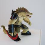 mixed media crocodile by Guangchen Zhang