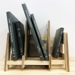 books on a book shelf designed by Xi Zhu